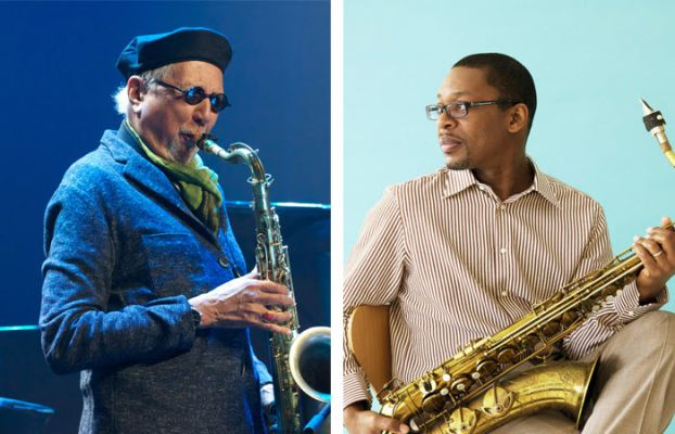 Charles Lloyd (left) and Ravi Coltrane