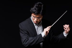 Paul Ghun Kim, resident conductor with the Oregon Symphony