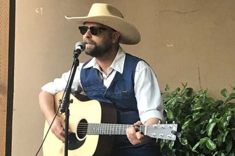Country singer William Surly performs for Whiskey Wednesday at Landmark Saloon in Portland.