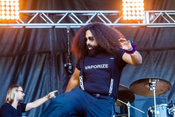 Reggie Watts played a great set, extolling the virtues of both kindness and THC