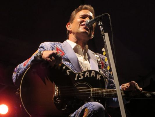 Chris Isaak was terrific Friday night. Photo by Scott Cunningham