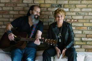 Shawn Colvin and Steve Earle ~ Photo by Alexandra Valenti