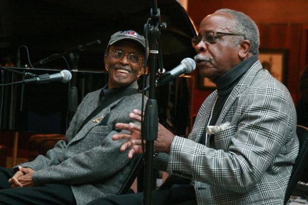 Jimmy Heath and Mel Brown / Photo by Diane Russell
