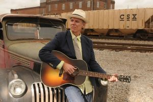 John Hiatt performs at the Aladdin Theater Friday night. Photo by Jim McGuire.