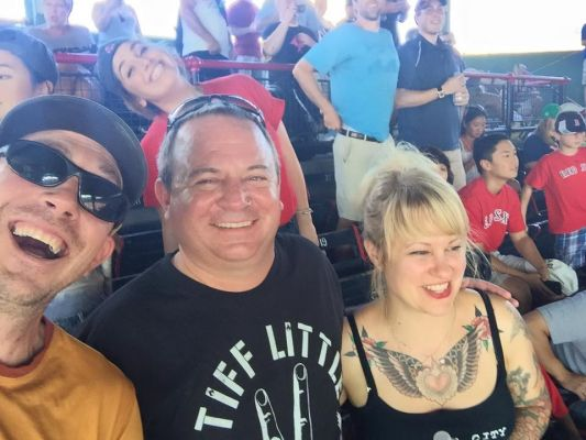 Mike Thrasher, center. From his Facebook page.
