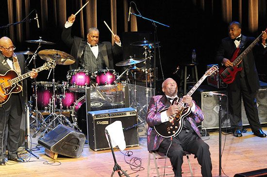 Tony Coleman with BB King